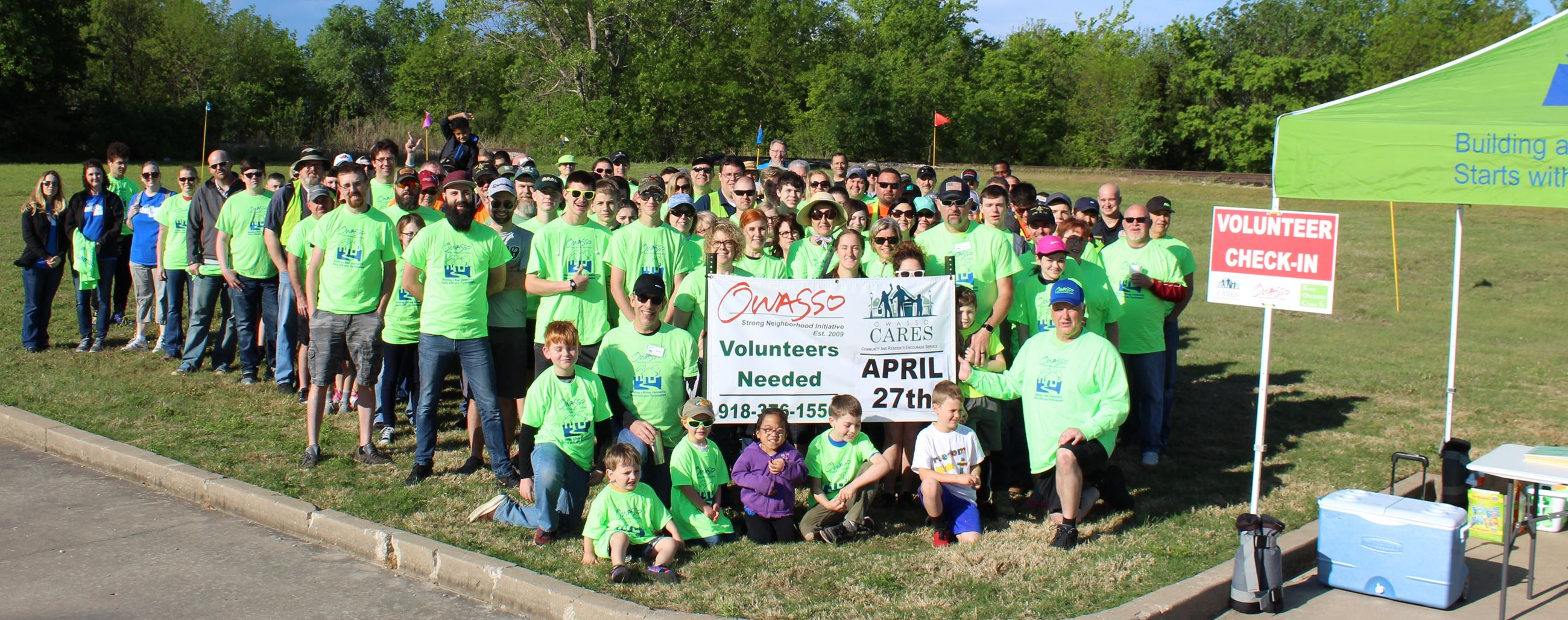 Volunteers gather for Owasso CARES Day of Service Spring 2019