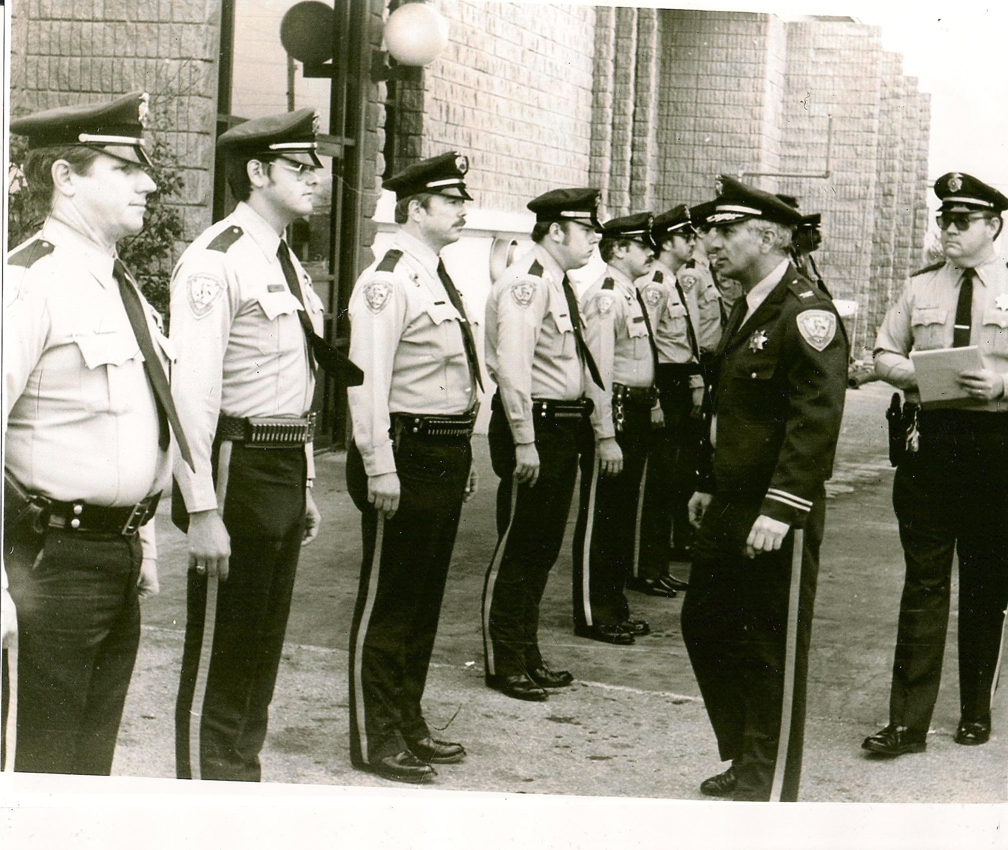 1982 Chief Edmund Reyes inspects troops