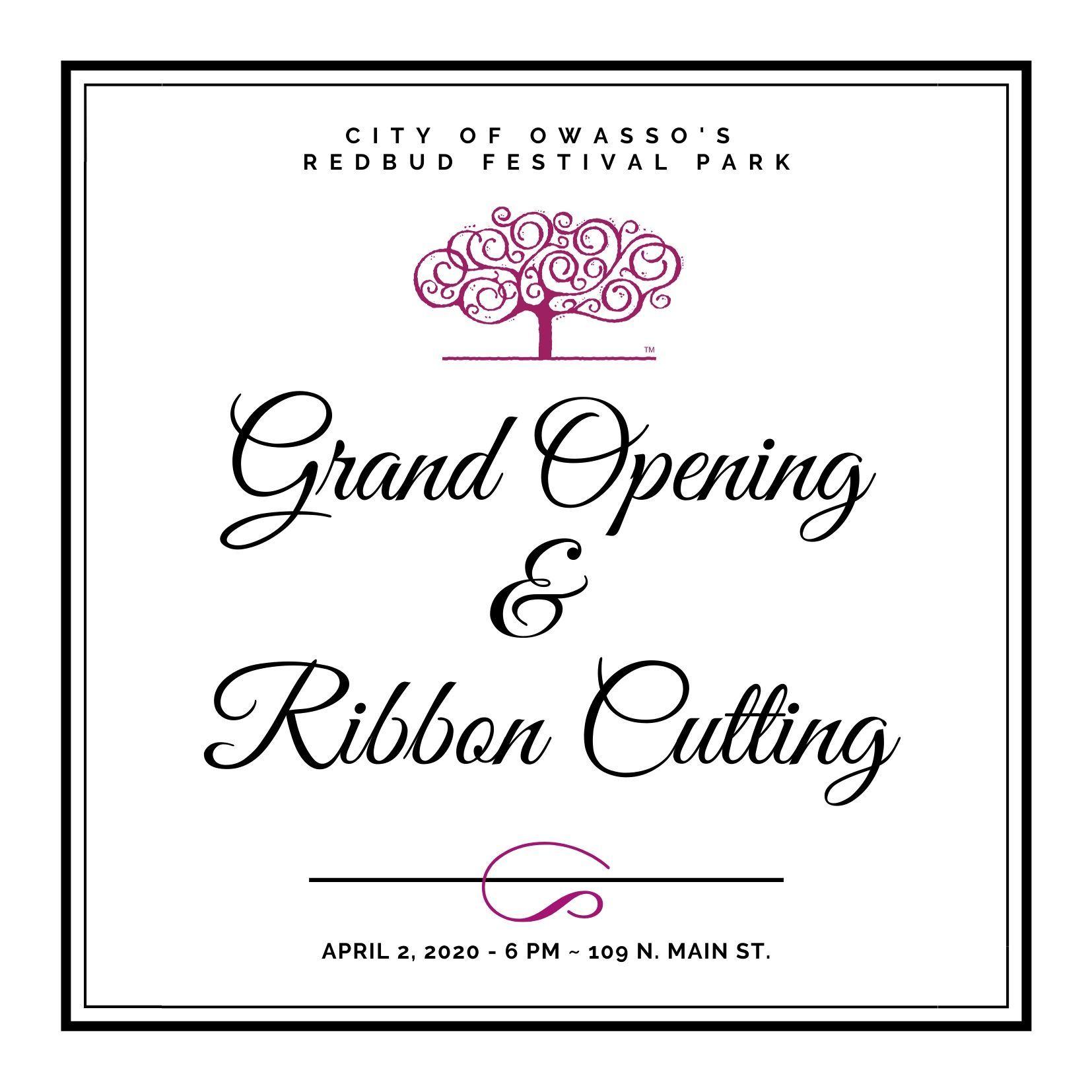Redbud Grand Opening Invitation