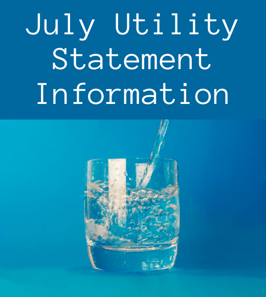 July Utility Statement Information