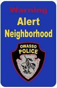 Alert Neighborhood Sign